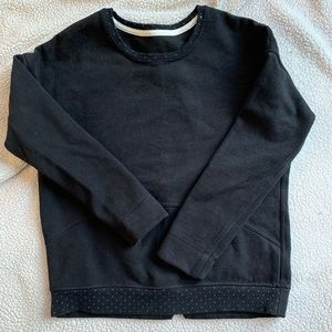 Lululemon crew neck sweatshirt-black